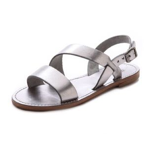 Madewell Silver Double Strap Sandals